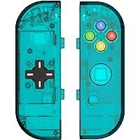 BASSTOP Set de carcasa de repuesto para consola Switch NS NX y control Switch Joy-con derecho/izquierdo sin electrónicos, hazlo tú mismo, Joycon D-Pad-ice Blue