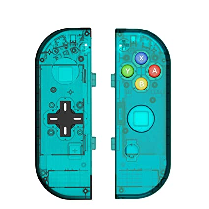 BASSTOP Translucent NS Joycon Handheld Controller Housing with D-Pad Button DIY Replacement Shell Case for Nintendo Switch Joy-Con (L/R) Without ...