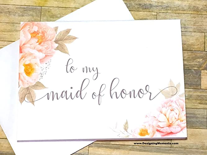 Amazon Com Maid Of Honor Thank You Card To My Maid Of Honor