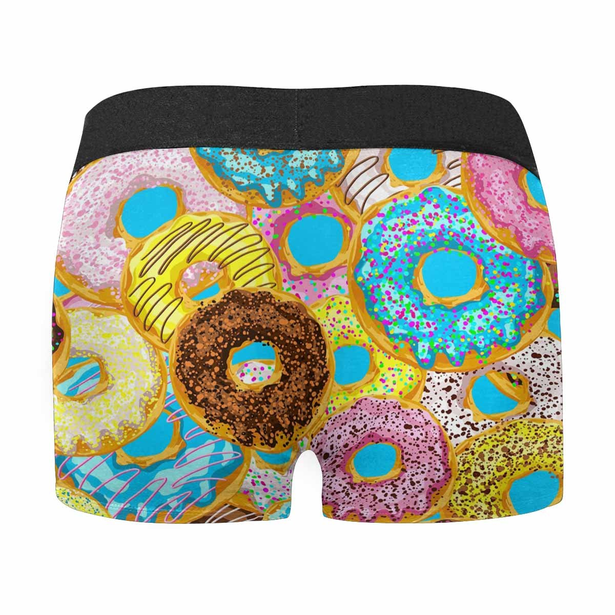 INTERESTPRINT Mens Boxer Briefs Colorful Donuts with Glaze and Sprinkles XS-3XL
