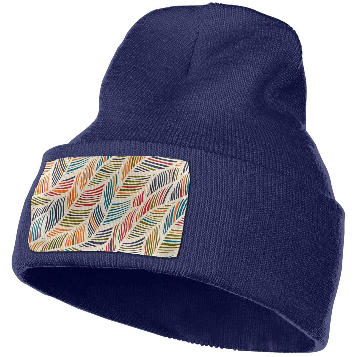 Crystal Goforth Color Stripe Unisex Warm Knitted Cap Wool Hats Beanies Caps