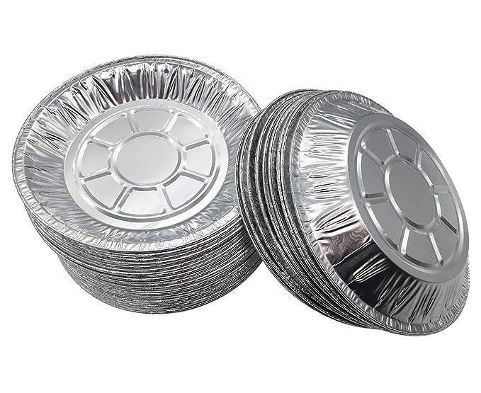 Juego de 50 sartenes de aluminio premium de 15,24 cm. Platos desechables para lata Pies Tart Quiche: Amazon.es: Hogar