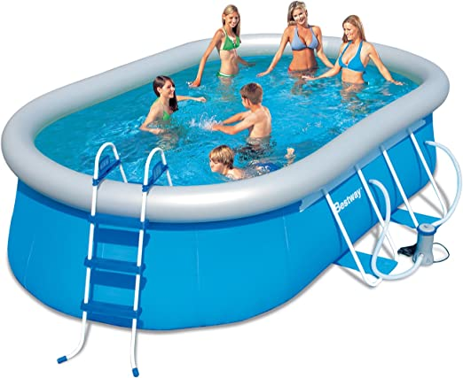 Piscina desmontable 488x305x107 cm.Besway 56269: Amazon.es: Jardín