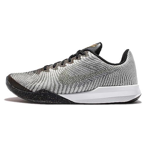 f28bce155b3 Nike Mens KB Mentality II Pure Platinum Metalic Gold Basketball Shoes (9.5  M US)