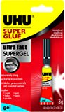 UHU Super Glue Ultra Fast Gel 3ml, (33-40796)