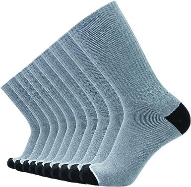 Enerwear 10P Pack Mens Cotton Moisture Wicking Heavy Cushion Crew Socks