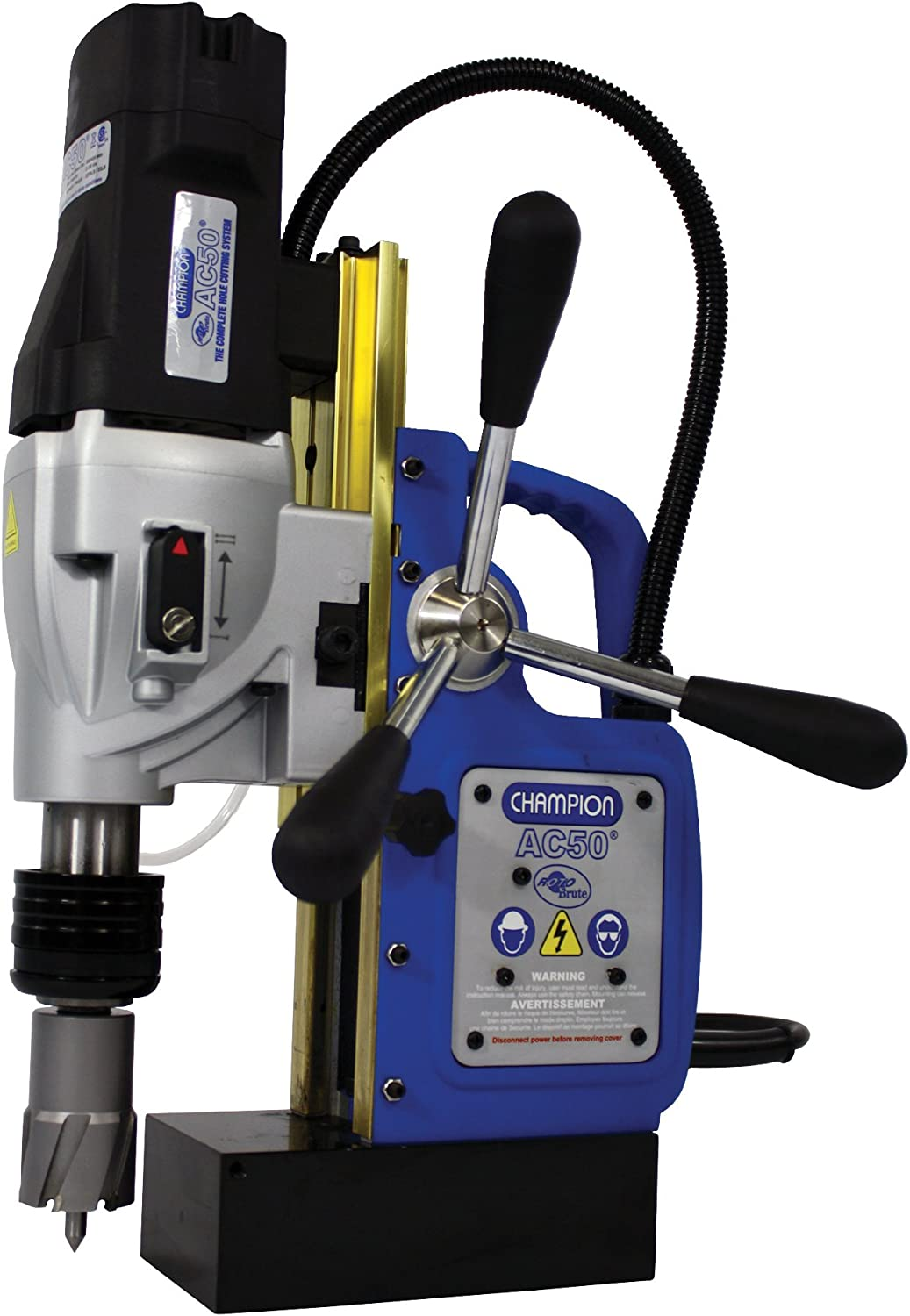 Champion Cutting Tool RotoBrute MightiBrute AC50 Portable Magnetic Drill Press Up to 2-1 8 diameter, 2 depth of cut