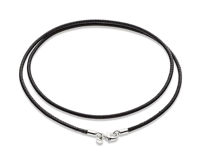 Amazon.com: MiaBella - Collar de cordón de piel italiana de ...