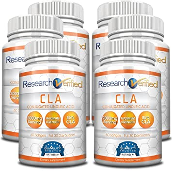Amazon research verified cla safflower oil natural weight research verified cla safflower oil natural weight loss with 2000mg 85 pure conjugated linoleic publicscrutiny Image collections