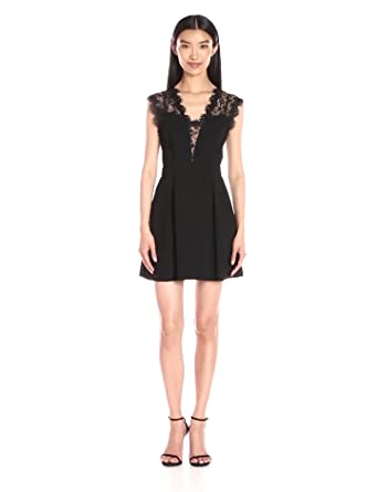 9769c17f BCBGeneration Women's Lace Inset Dress at Amazon Women's Clothing store: