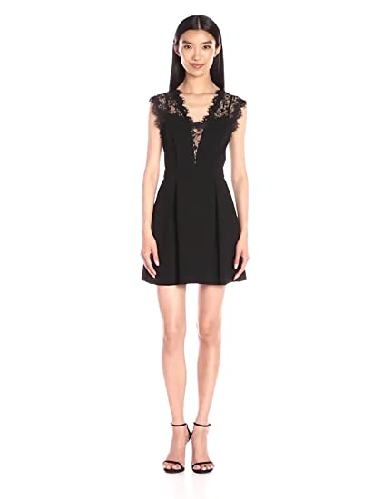 Bcbgeneration Womens Lace Inset Dress At Amazon Womens Clothing Store