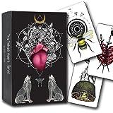 Naked Heart Tarot by Jillian C. Wilde - Black Tarot Card & Animal Spirit Deck - Tarot Card and Book Set, Nature and Animal Ta