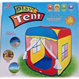 Excelvan Pop-up Play Tent Tunnel Outdoor Indoor Large Child Playhouse Wendy House Set with Lightweight for Toddlers Child Kids (Square Tent)