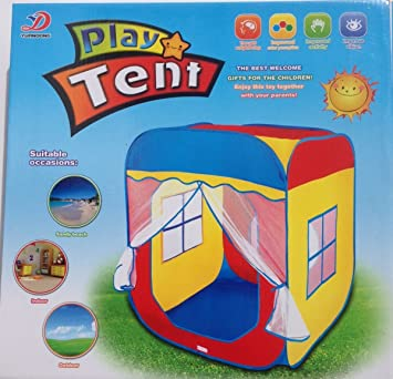 Excelvan Pop-up Play Tent Tunnel Outdoor Indoor Large Child Playhouse Wendy House Set with  sc 1 st  Amazon UK & Excelvan Pop-up Play Tent Tunnel Outdoor Indoor Large Child ...