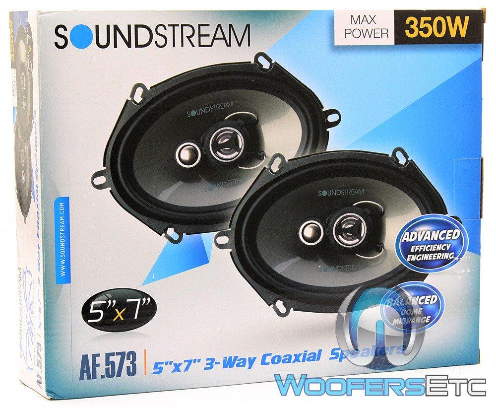 4-ohm 120w RMS Soundstream AF.573 Arachnid Series 5/″x7/″ 3-Way Speaker