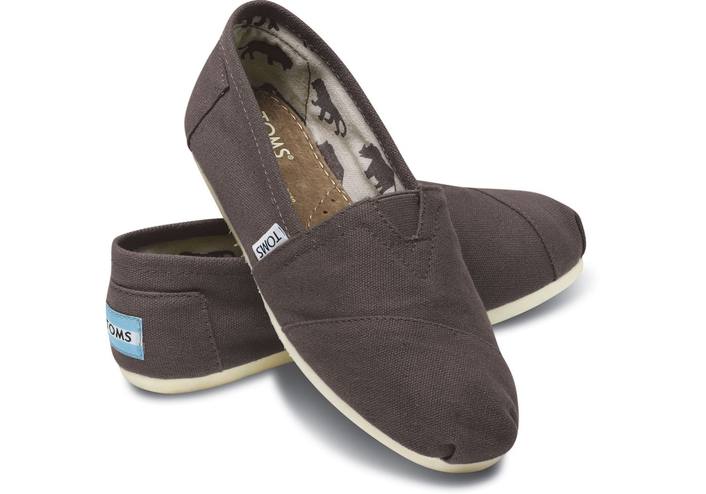 TOMS Women's Classic Canvas Slip-on (8 B(M) US, Grey)
