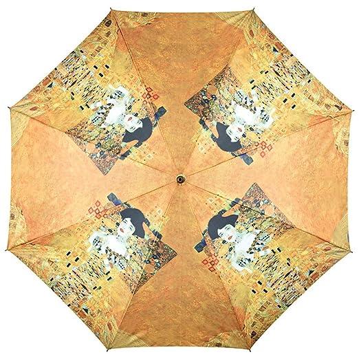 VON LILIENFELD® Paraguas Mujer Automática Motivo Arte Gustav Klimt: Adele: Amazon.es: Equipaje