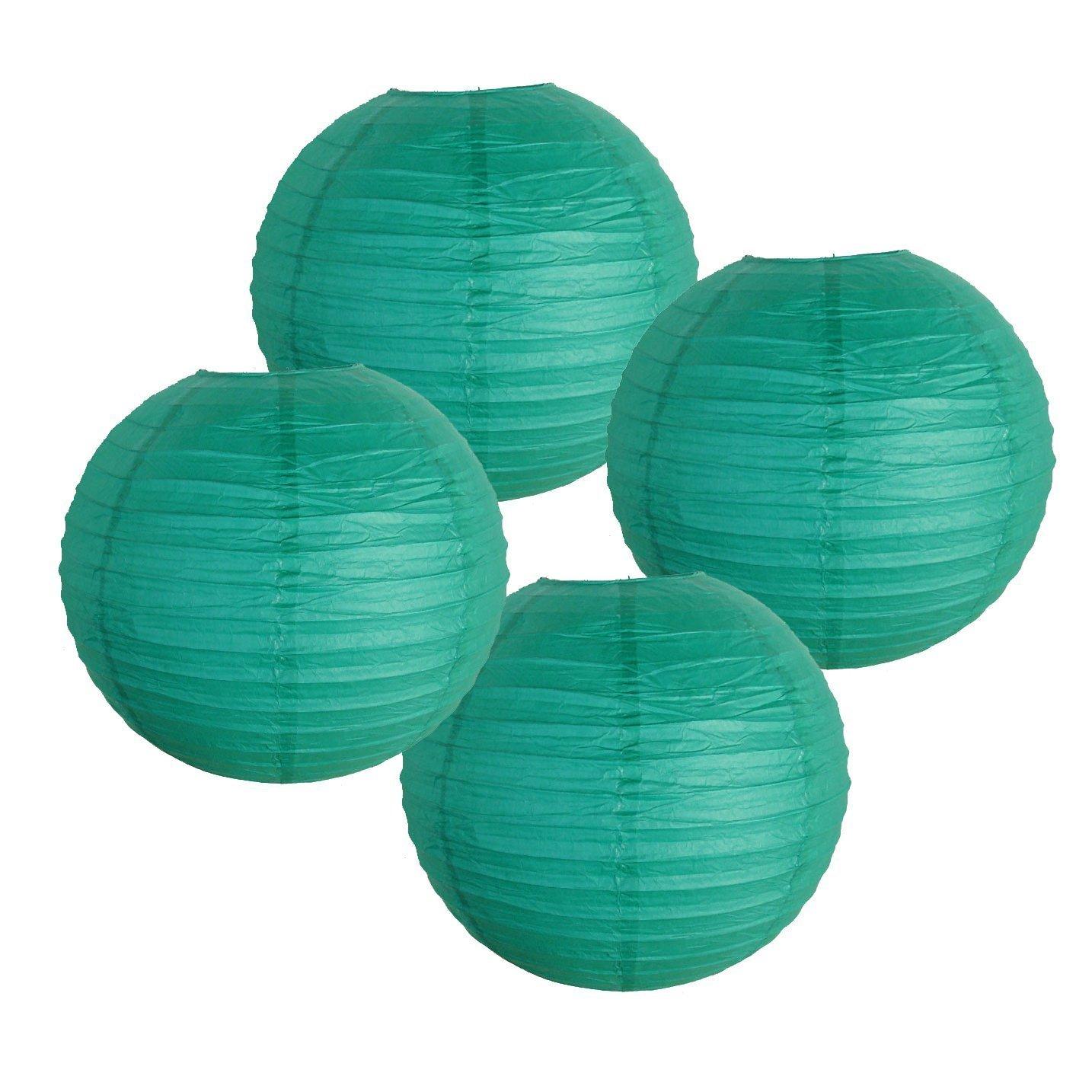 Just Artifacts 様々な紙製ランタン(色とサイズの異なる紙のランタン) 8inch AMZ-RPL4-080061 B01EGXKGUU 8inch|Teal Blue Green Teal Blue Green 8inch