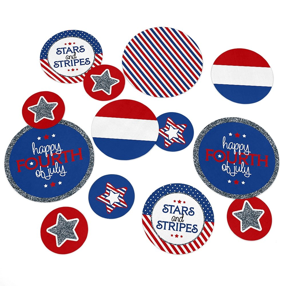 Large Confetti 27 Count Party Decorations Independence Day Party Giant Circle Confetti 4th of July