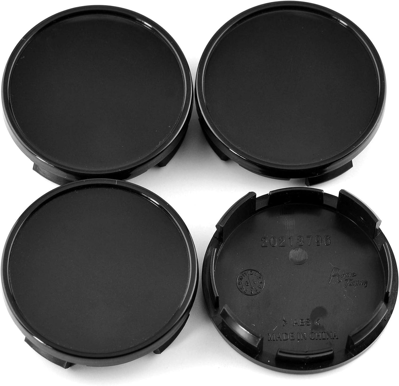 2.32in 2.48in Wheel Hub Center Caps Black Base for #52110398AA 96452314 Camaro 2010-2016 //59mm 4pcs 63mm