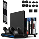 Keten supporto verticale per PS4 Slim/PS4 Con Ventilatore 2 in 1 base di ricarica Playstation 4 Games Gioco elagerung e 3 Port USB Hub di un gioco