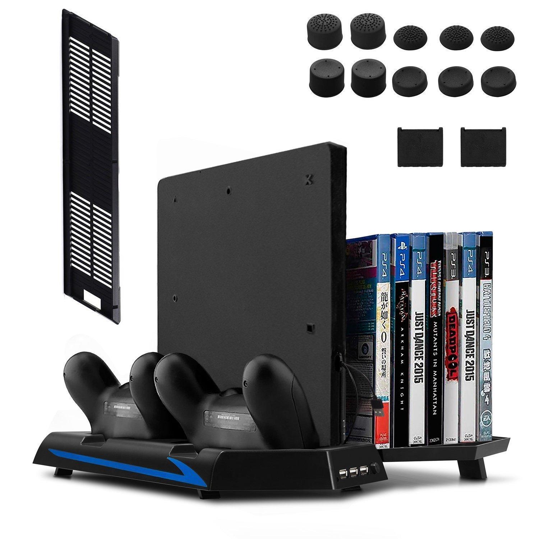 Keten PS4 Slim / PS4 Soporte Vertical con Ventilador 2...
