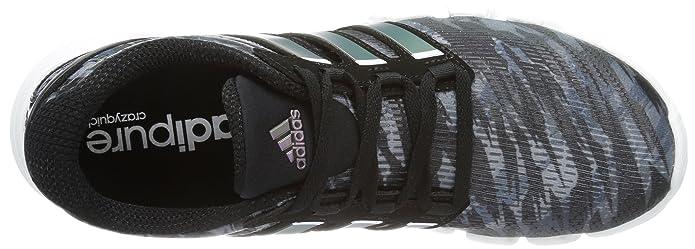 online store 66b8c cb03f adidas Mens Adipure Crazy Quick Running Shoes Black Schwarz (black 1   running white ftw  dark onix) Size 42 23 Amazon.co.uk Shoes  Bags