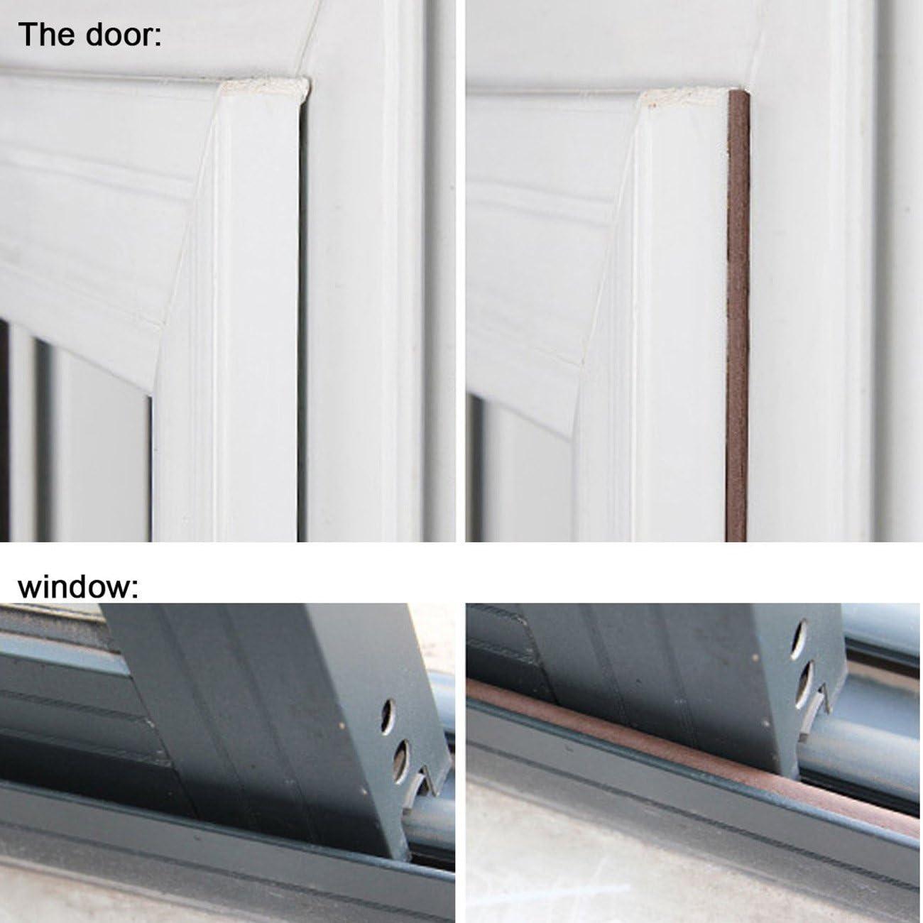 Ti – tiempo para desmontar puerta ventana burlete tira aislamiento burlete sellador de ruido D forma: Amazon.es: Bricolaje y herramientas