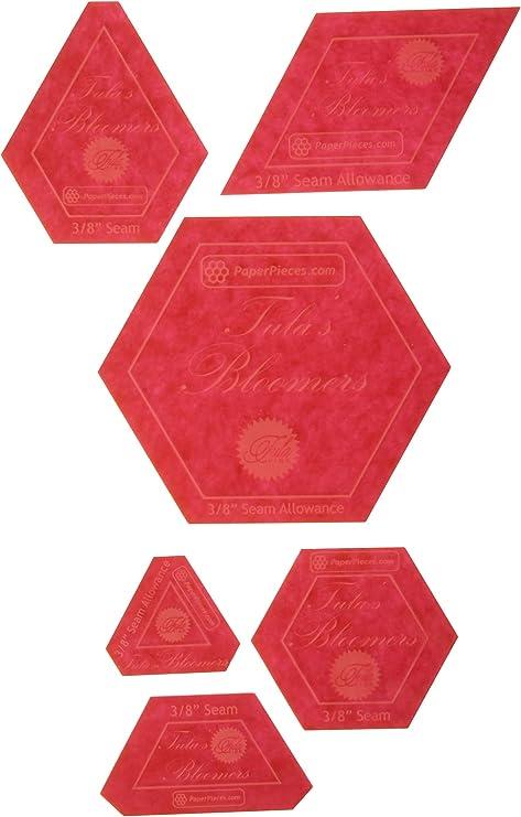 Paper Pieces Acryl-Stoff-Schablone f/ür Tula Nova 7-teiliges Set
