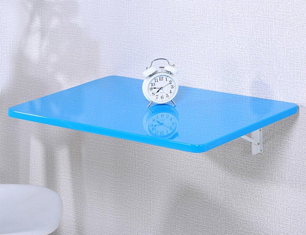 壁掛けラップトップデスクオフィステーブルペイント折り畳み式ダイニングテーブルコンピュータデスクラーニングテーブルカラーサイズオプション ( 色 : 青 , サイズ さいず : 60*40cm ) B079Z732YZ青 60*40cm