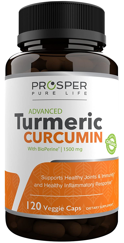 Turmeric Curcumin Capsules W Bioperine 1500mg – 120 Capsules – Organic Tumeric Curcumin Supplement with Black Pepper Extract – Vegan – Non GMO – Supports Joint Pain Relief – Antioxidant Supplement