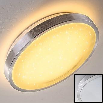 Genial Bad Lampe Sora Star Aus Gebürstetem Aluminium U2013 Warmweißes LED Licht Mit  900 Lumen