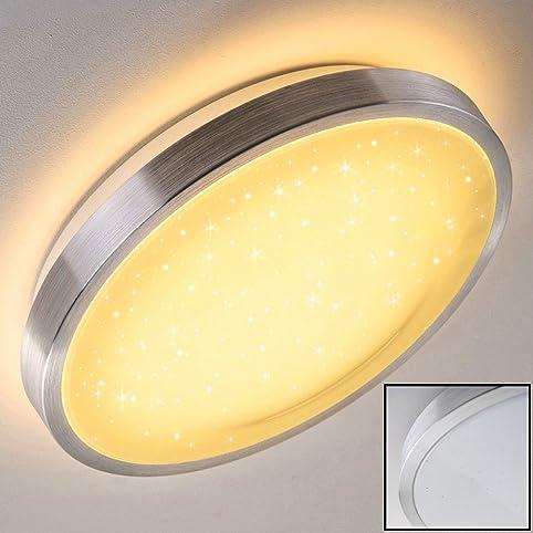 bad lampe sora star aus gebrstetem aluminium warmweies led licht mit 900 lumen - Badezimmer Beleuchtung Lumen