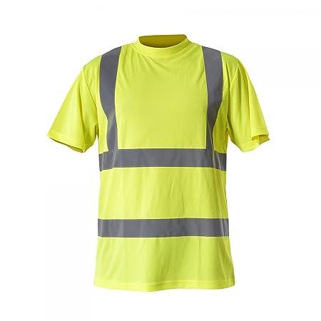 b31177b5f680 LAHTI PRO L4020806 T-Shirts Warnschutzkleidung ORANGE Arbeitsshirt-(Gelb),  Größe  3XL 60