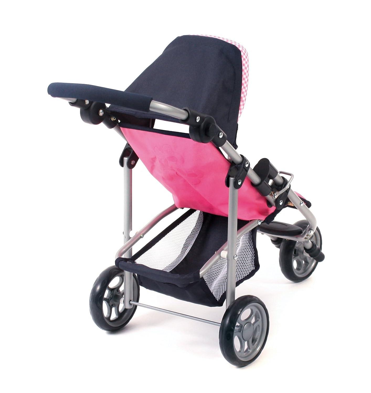 CHIC 2000 Bayer Jogging Buggy Lola Checker Dolls Pram Pink