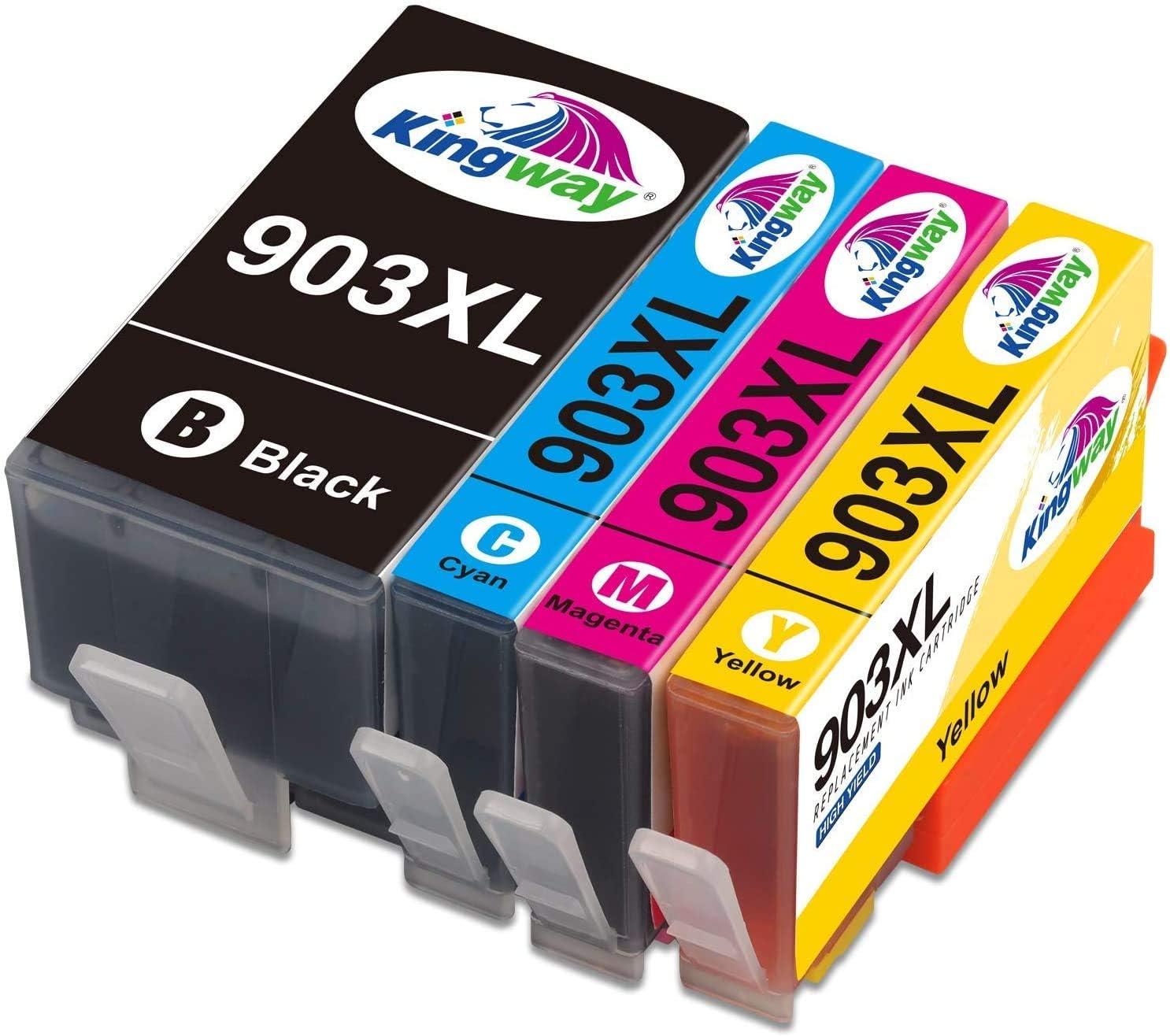 Kingway Replacement For Hp 903xl Printer Cartridges Work With Officejet Pro 6950 6960 6970 Pack Of 4 Bürobedarf Schreibwaren