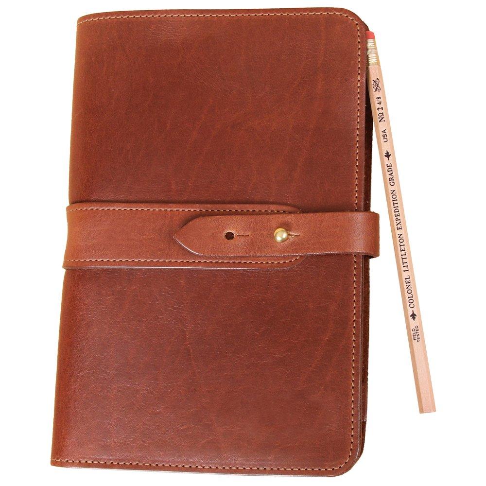 Travel Leather Portfolio Folio Notebook Business Folder Small Brown Full-Grain USA Made No. 20
