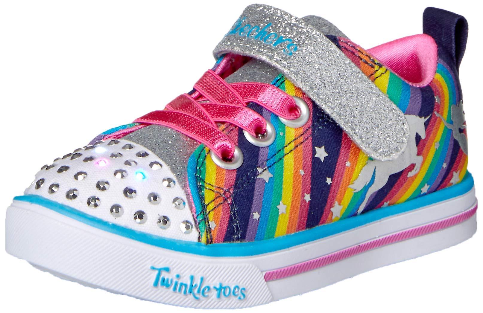 Skechers Kids' Sparkle Lite-Magical Rainbows Sneaker