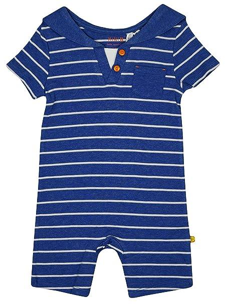 Bebé Niño Rayas Naúticas Marinero todo en un mameluco Conjunto Azul ...