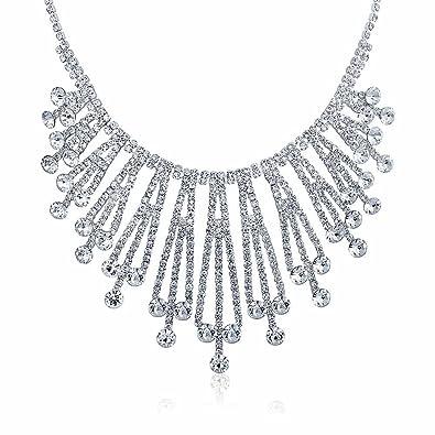 Amazon Com Bling Jewelry Art Deco Style Bridal Crystal Choker