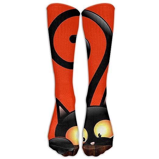 8c90786132f821 Amazon.com  Cute Halloween Cats Cotton Tie Dye Compression Knee ...
