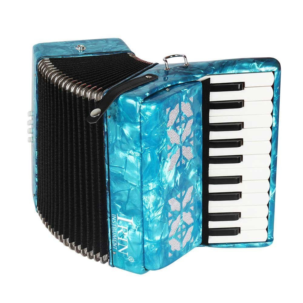 Beginner Accordion,22-key 8 Bass Piano Accordion,Made from Maple(blue) by Wal front