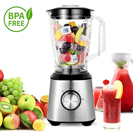 meykey batidora, Smoothie maker, 800 W Blender Acero Inoxidable Alimentos fruta Maker Licuadora con