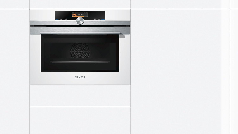 Siemens CM676GBW1 - Horno (Medio, Horno eléctrico, 45 L, 1000 W, 45 L, 30-300 °C): Amazon.es: Hogar