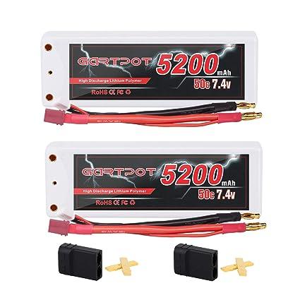 Amazon.com: GARTPOT - Juego de 2 baterías de 5200 mAh, 2S ...
