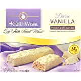 Healthwise - Divine Vanilla | Gluten Free Diet Snack Bars | Hunger Control and Appetite Suppressant High Protein, Low Fat, Ch