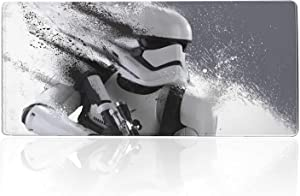 Professional Gaming Mouse Pad Star Wars Stormtrooper,Mousepad with Non-Slip Rubber Base & Stitched Anti-Fray Edges,Waterproof Mouse Mat,Laptop Desk Pad,Computer Keyboard and Mice Combo Pads 23.6X11.8