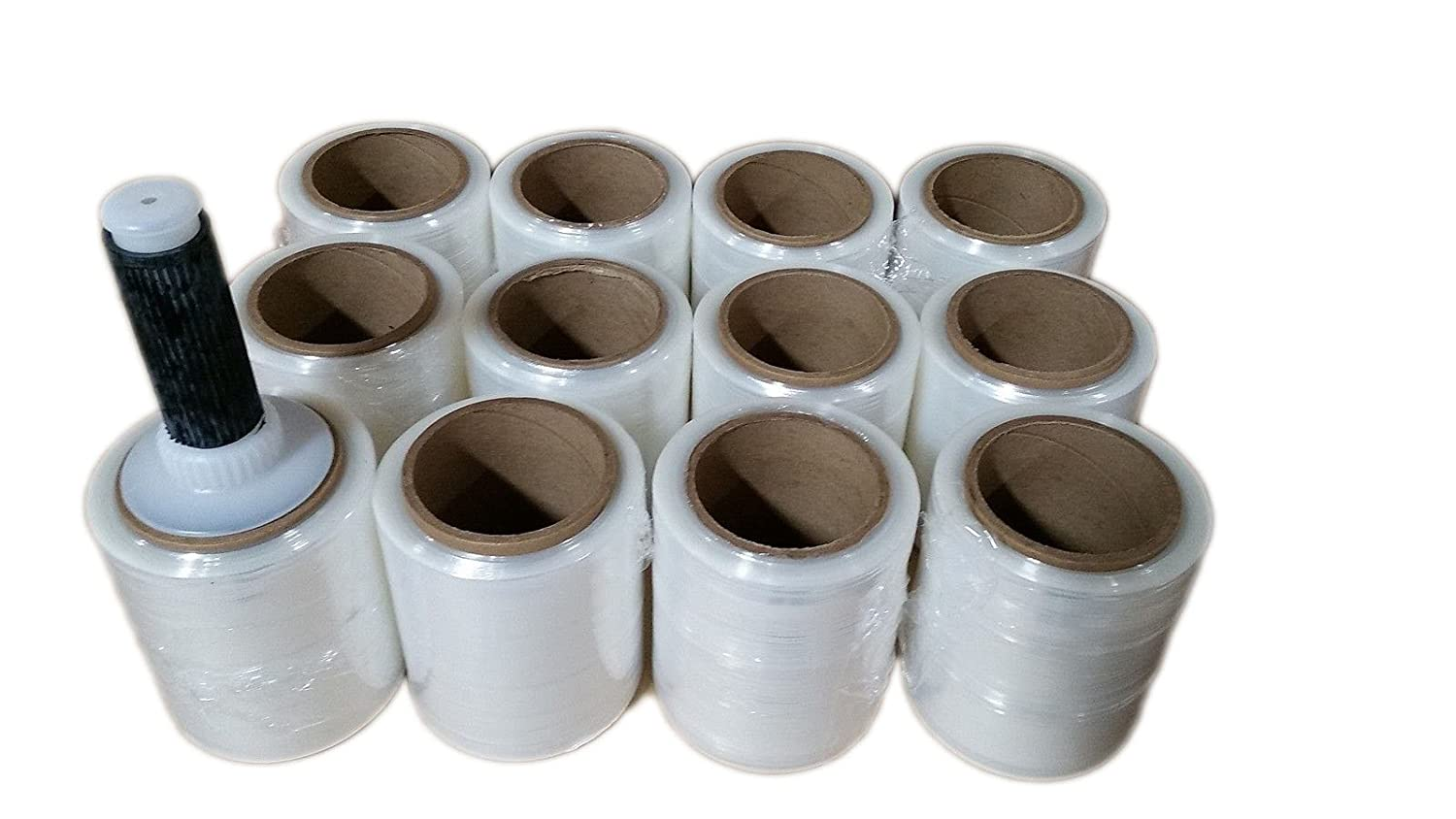 18 x 1500 Zoomvalue zoomvalue 80 Gauge Pallet Wrap Stretch Film Shrink Hand Wrap Pack of 4