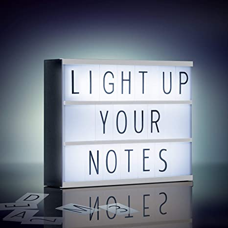 Buy Merkury Innovations Light Up Box LED Message Letter Board Sign