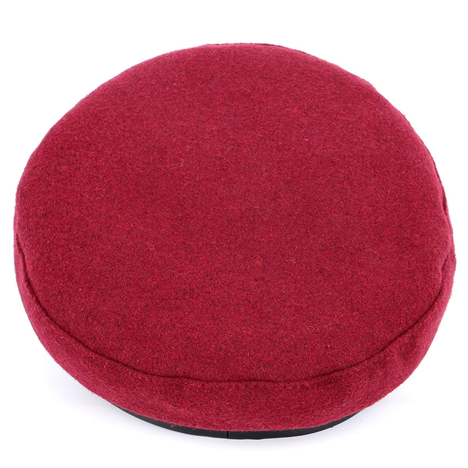 2018 Wool Casual Military Hats Womans Flat Top Hat Beret Faux Leather Cotton